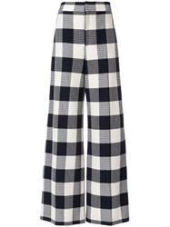 Roland Mouret Delano Wide Leg Trousers Blue
