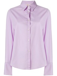 Romeo Gigli Vintage Wide Cuffs Shirt Pink And Purple