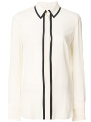 Mantu Longsleeved Stripe Detail Shirt Nude And Neutrals