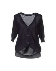 Blue Les Copains Knitwear Cardigans Women Dark Purple