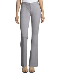 Derek Lam Flat Front Flared Pants Heather Gray