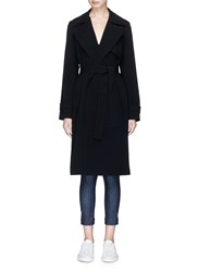 Theory 'Oaklane' Belted Cady Trench Coat Black