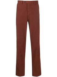 Hackett Straight Leg Trousers Brown