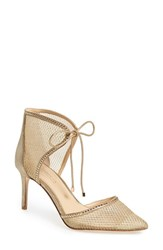 Imagine By Vince Camuto Women's 'Mark' Mesh Panel D'orsay Pump Soft Gold Suede