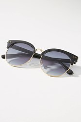 Anthropologie Elliot Round Clubmaster Sunglasses Black
