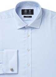 Austin Reed Men's Non Iron Classic Fit Oxford Shirt Blue