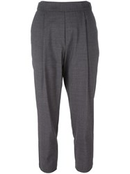 Erika Cavallini Tailored Cropped Trousers Grey