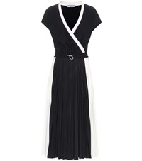 Valentino Pleated Dress Black