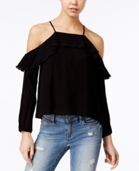 American Rag Off The Shoulder Ruffled Top Only At Macy's Classic Black