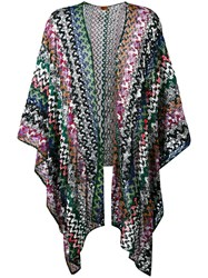Missoni Open Knit Cardigan Women Cupro Rayon Polyester One Size