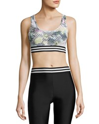 Onzie Graphic Elastic Low Impact Sports Bra Madonna Multicolor