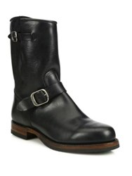 Frye John Addison Engineer Leather Boots Black