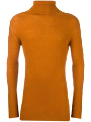 Ann Demeulemeester Turtleneck Jumper Yellow Orange