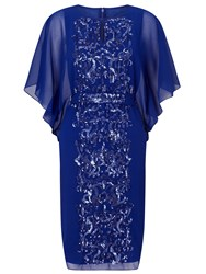 Ariella Enid Batwing Beaded Front Dress Blue