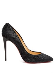 Christian Louboutin Pigalle Follies 100 Sequin Embellished Pumps Black