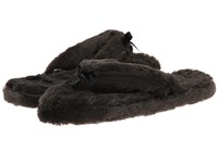 Bedroom Athletics Erica Spa Thong Charcoal Women's Slippers Gray
