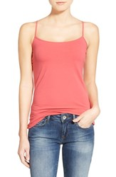 Women's Halogen 'Absolute' Camisole Red Chateaux