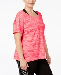 Material Girl Active Plus Size Mesh Back Space Dyed T Shirt Only At Macy's Flashmode