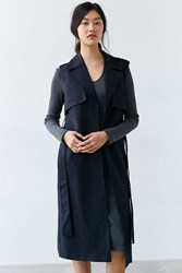 Finders Keepers Get Up Sleeveless Trench Coat Navy