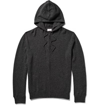 Derek Rose Finley Zip Through Cashmere Hoodie Gray