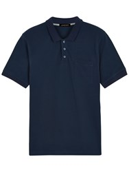 Jaeger Supima Cotton Polo Shirt Navy