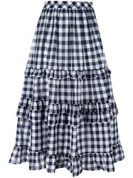 Twin Set Gingham Check Skirt Blue