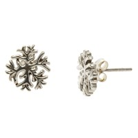 Nina B Snowflake Stud Earrings Silver