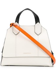 Emporio Armani Large Tote Bag White