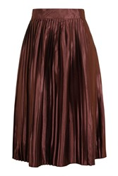 Glamorous High Waisted Pleated Skirt By Petites Copper