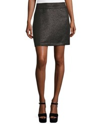 Laundry By Shelli Segal Metallic Jacquard Mini Skirt Black