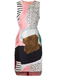 Philosophy Mix Print Flared Dress Multicolour