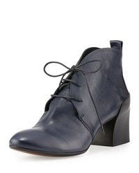 Cnc Costume National Lace Up Leather Chukka Boot Dark Blue
