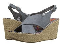 Rocket Dog Rue Dusty Blue Coast Women's Wedge Shoes Gray
