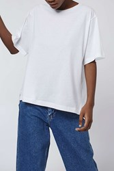 Shirt Back Tee By Boutique White