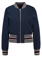 Miss Selfridge Bomber Jacket Navy Blue Dark Blue