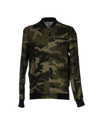 Tanomu Ask Me Jackets Military Green
