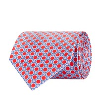 Stefano Ricci Circle Micro Flower Tie Unisex Red