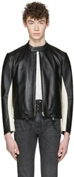 Maison Martin Margiela Black Leather Racer Jacket
