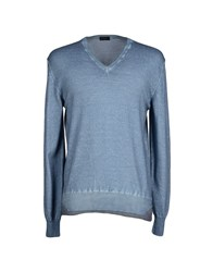 Yoon Knitwear Jumpers Men Slate Blue