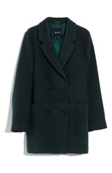 Madewell Hollis Double Breasted Coat Smoky Spruce