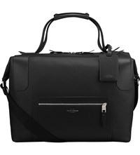 Smythson Greenwich Large Canvas And Leather Holdall Black