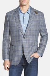 Men's Big And Tall Kroon 'The Edge' Plaid Silk Sport Coat