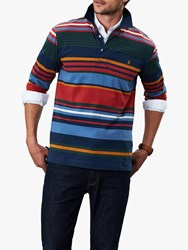Joules Holywell Long Sleeve Stripe Rugby Polo Shirt