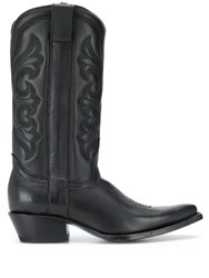 Ash Amazone Embroidered Boots Black