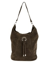 Phase Eight Sapphia Suede Bag Grey