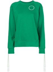 Monse Press Stud Sleeve Sweatshirt Green