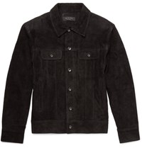 Rag And Bone Suede Jacket Charcoal