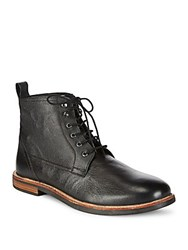 Ben Sherman Brent Leather Ankle Boots Black