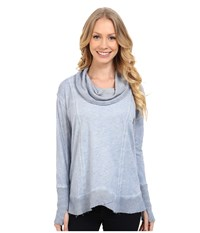 Miraclebody Jeans Teri Thermal Cowl W Body Shaping Inner Shell Glacier Blue Women's Sweatshirt