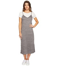 Culture Phit Alessia Spaghetti Strap T Shirt Maxi Dress Ivory Charcoal Women's Dress Multi